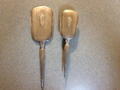 Vintage S&B Saart Brothers Sterling Silver Hand Mirror Brush Vanity Set