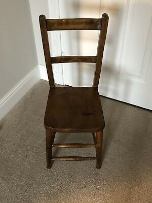 Vintage Childrens Wooden School Chair
