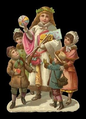 Victorian style Angel ChristmasTree Children Scrap Card Making Art Project