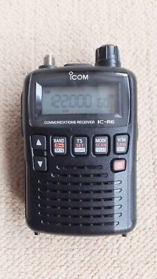 Icom IC-R6 pocket size AM/FM 1300ch scanner  + cloning software & charger stand