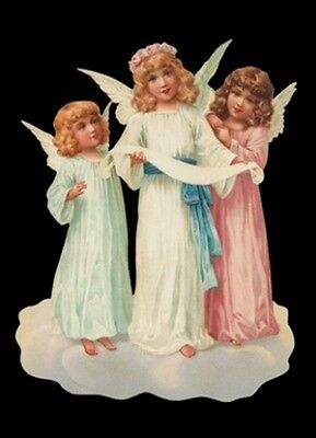vintage style Die Cut Christmas Scraps Angels Scrapbooking Scrapbook projects