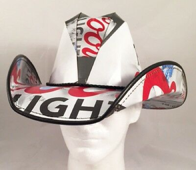 Beer Box Cowboy Hat Made from recycled Coors Light boxes NASCAR Party Stetson