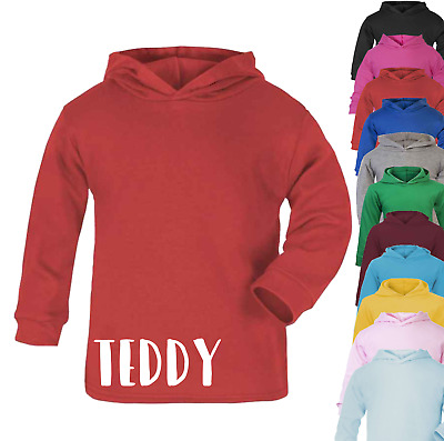 Personalised Name Cotton Hoodie Kids Personalised  Boys Gifts Girls Gifts