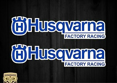 Pegatina Decal Sticker Autocollant Adesivi Aufkleber 2 X Husqvarna Racing