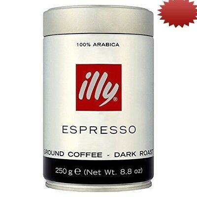 illy Ground Espresso Coffee Dark Roast, 260ml (Pack of 2). Delivery is Free