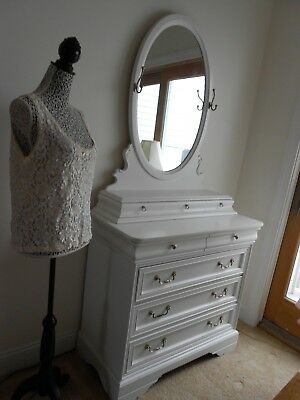 Beautiful Shabby Chic White Dresser with Mirror