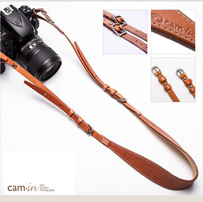 Light Brown Luxury Leather DSLR camera strap by Cam-in
