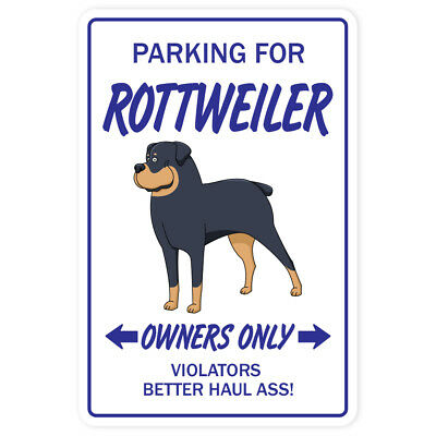 ROTTWEILER Sign dog pet parking guard security vet breeder kennel 12""