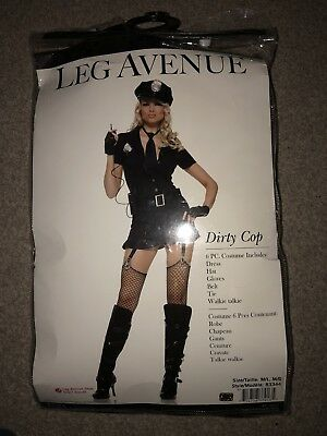 Leg Avenue Sexy Police Dirty Cop 6-Piece Fancy Dress Party Costume M/L 10-12