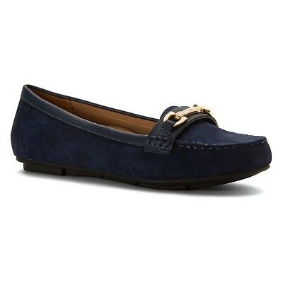 (5 B(M) US, Navy) - Vionic with Orthaheel Technology Women's Kenya Loafer