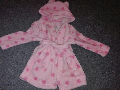 baby girl dressing gown 12-18 months