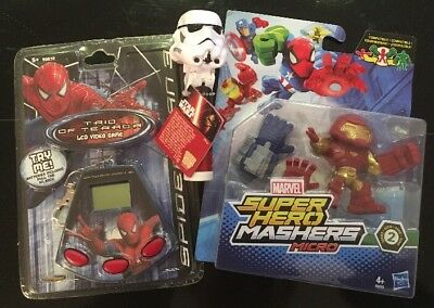 Childrens Job Lot Marvel Spiderman LCD Game Iron Man Masher & Star Wars Lollypop