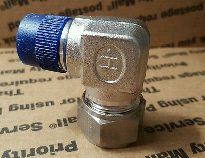 Gyrolok New Stainless Steel Elbow Male Connector 3/4 in x 1/2 MNPT 12LM8-316