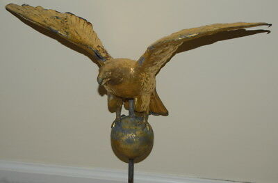 Vintage Copper Eagle Weathervane Painted for Parts / Repair Farm Fresh Find NICE