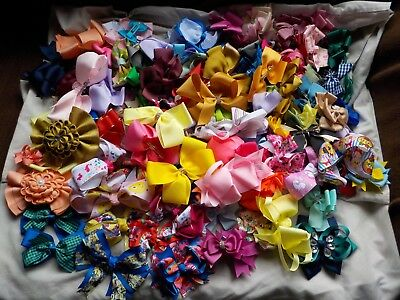 Wholesale Job lot at least 160 Brand New Hairbows mixed sizes/styles &  colours