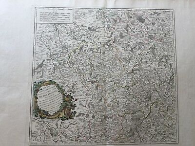 1752 Map By Robert Vaugondy Burgundy & Champagne Wine Region France