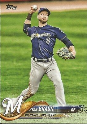 Ryan Braun #180 - 2018 Topps Series 1 - Base - Milwaukee Brewers