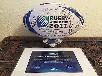 Official 2011 Rugby World Cup Signed Captains Ball