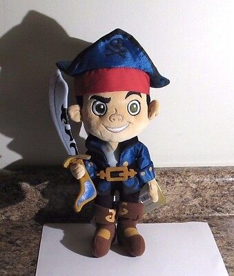 "Disney Store Captain Jake and the Never Land Pirates Jake Plush Doll 12"" NWT"
