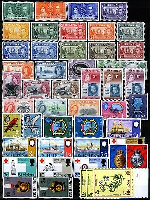 St Helena 1938-79, Collection MH, Several better stamps!