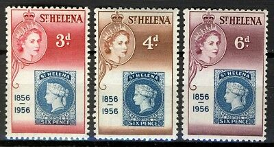 St Helena 1956, Stamps on stamps full set MNH, Sc# 153-155