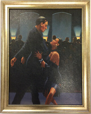 Rumba in Black by Jack Vettriano Framed Canvas Effect Print Large 66cm x 53cm