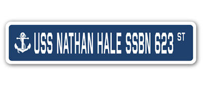 8c053c17254 USS NATHAN HALE SSBN 623 Street Sign us navy ship veteran sailor gift