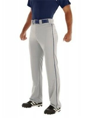 (Medium, Silver/Navy) - Youth Relay 500ml Piped Pant. Teamwork. Free Delivery