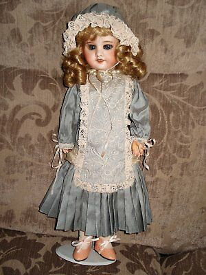 Antique lovely Bisque head French Doll SFBJ  gorgeous outfit42 cm reduced $40