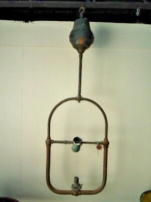 Antique Harp Hall Hanging Gas Chandelier by Economy Gas Lamp Company