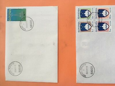 Slovenia 66 FDC covers in large binder pristine