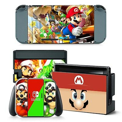 Nintendo Switch Console Game Film Sticker Decals Cover Skin Protector AU Stock