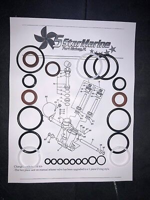 Seal Kit!! SHOWA TRIM TILT UNIT YAMAHA F115 F150 F200 68V-43800-04-00 64E-43822