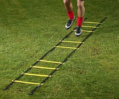 (9) - Mitre Soccer Sports Fitness Drill Training Footwork Speed Agility Ladder