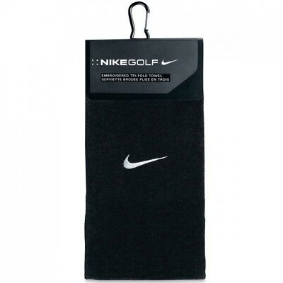 (Black/Silver) - Nike Golf 2013 Embroidered Swoosh Tri-Fold Towel - Various