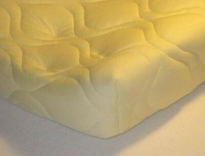 Quilted Contoured Changing Table Pad Cover - Yellow - Made In USA. sheetworld
