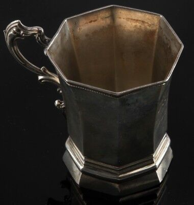 Antique F.h. Clark & Co. Silver Monogrammed Cup
