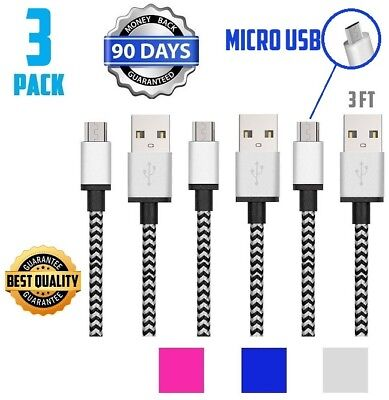 3-Pack Premium 10FT 15FT Micro HDMI Cable for Lenovo PC Sony HTC EVO LG P999
