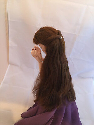 Mossy Tombstone WIG - Tonner Evangeline Ghastly doll fashion - long brown wig