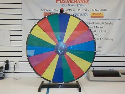 """"""" Spin to Win Dry Erase Prize Wheel with 18 sections on a table stand"""