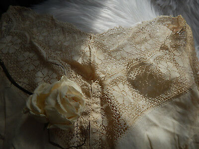 Lovely Antique Victorian Edwardian  ID'd Camisole Corset Cover Garter Lace