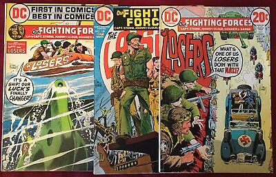Our Fighting Forces Lot #138-140 DC Bronze Age War Comics