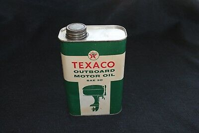 TEXACO OUTBOARD MOTOR OIL QUART CAN. DATED 5-1959 Vintage