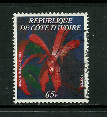Ivory Coast #447D Used Stamp - Flowers (a)