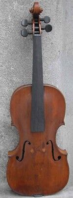 Antique 4/4 Violin Branded JCV Johann Christian Voigt Prag 1788 Case Appraised