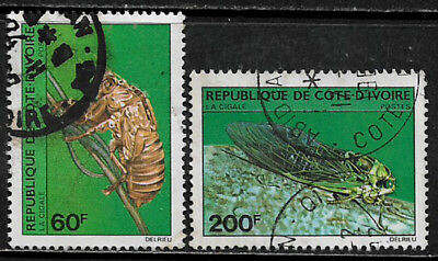 Ivory Coast #565-6 Used Set - Insects (d)