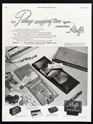 1947 Vintage Print Ad 40's Fashion ROLF'S Wallet Image