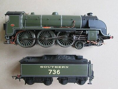 HO OO Hornby model train locomotive loco + tender 0-6-4 Southern 736 V.detailed
