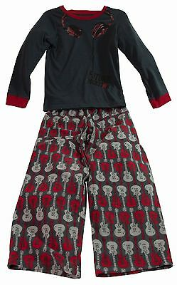 Boys Pyjamas New Pjs Grey Red Cosy Fleece Pants Sleepwear Age 4 Years