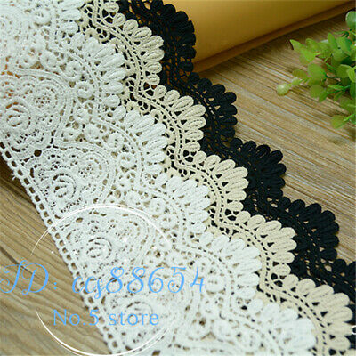 1yard Vintage Crochet embroidered Cotton lace trim dress Curtain Sewing DIY  A34